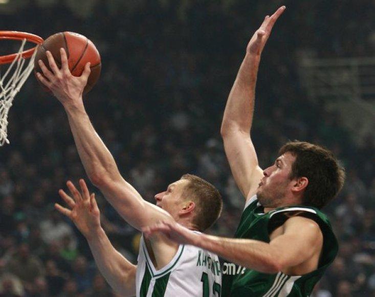 R.Kaukėnas buvo vienas aktyviausių Sienos komandos krepšininkų.