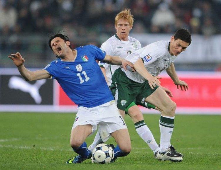 Pasaulio čempionai italai išvykoje dvikovą su Airija baigė lygiosiomis 1:1.