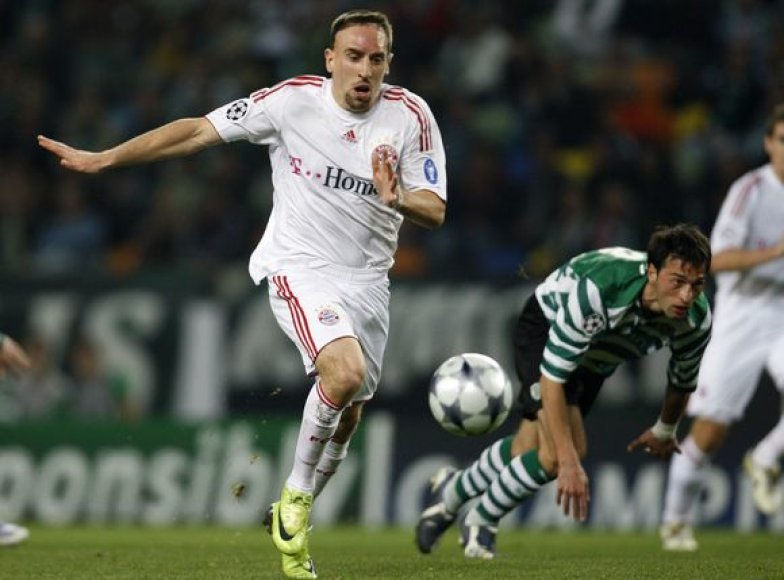 F.Ribery nerodo noro likti Miunchene
