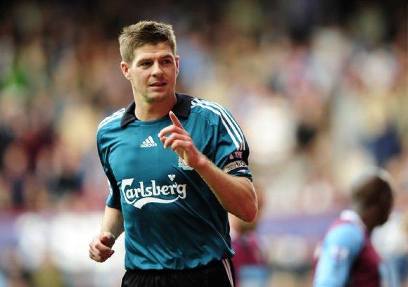 S.Gerrardas šį sezoną per visus turnyrus pelnė 23 įvarčius