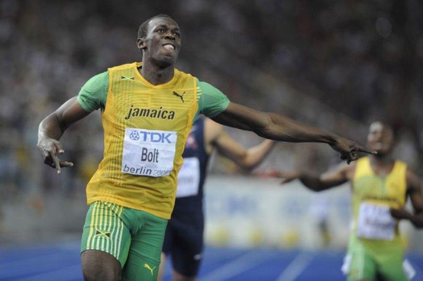 U.Boltas antrą kartą triumfavo Berlyne