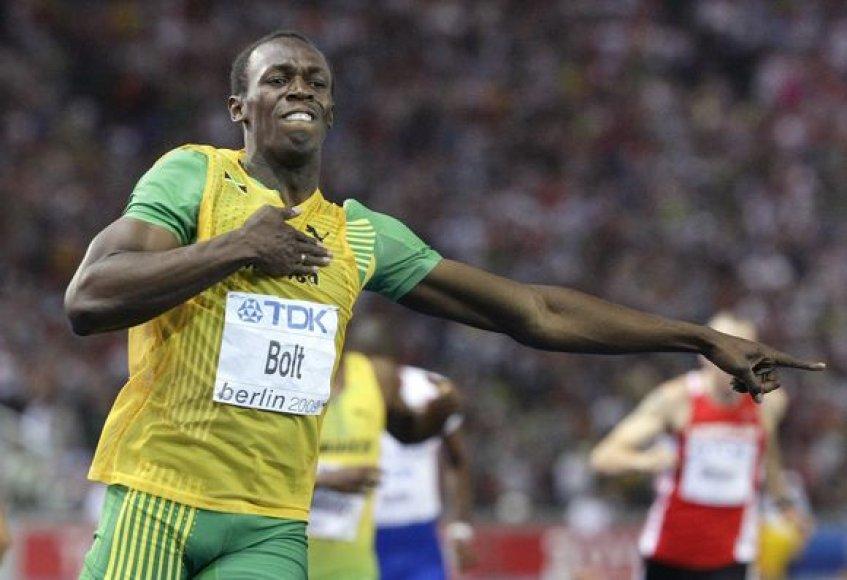U.Boltas tikino, kad kitais metais nesieks rekordų