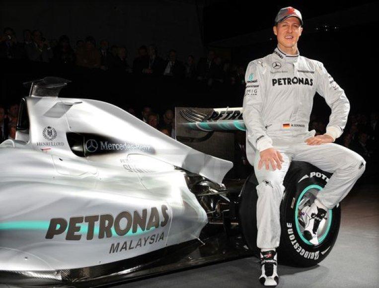 M.Schumacheris planą tapti čempionu jau pirmą sezoną laiko optimistiniu