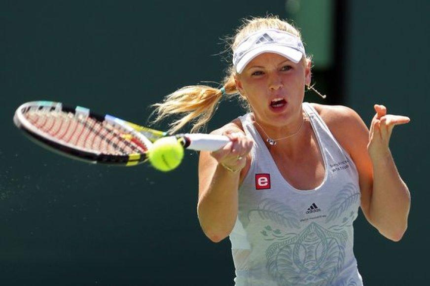 C.Wozniacki apgynė turnyro JAV nugalėtojos titulą