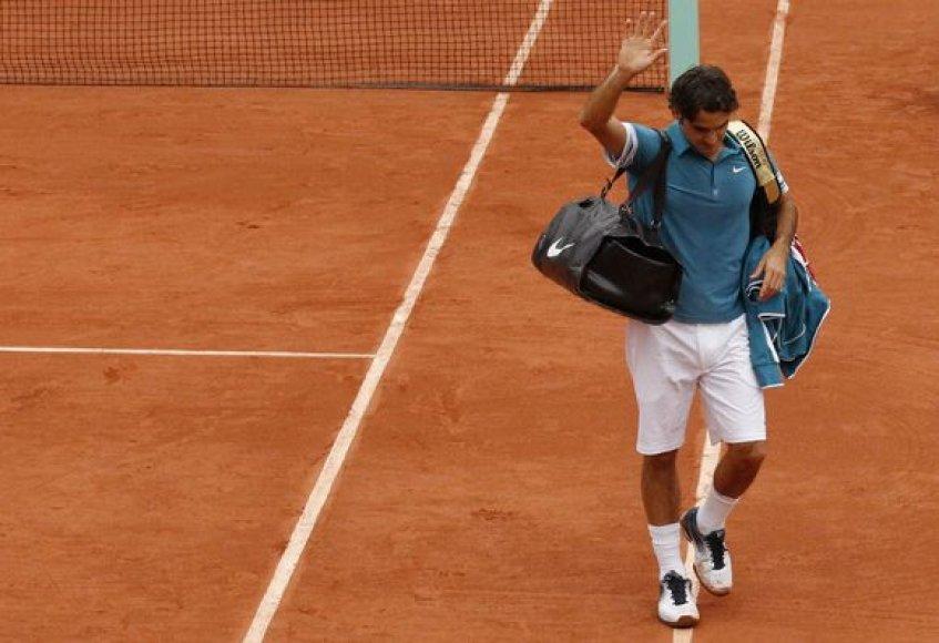 R.Federeris netikėtai suklupo turnyro ketvirtfinalyje