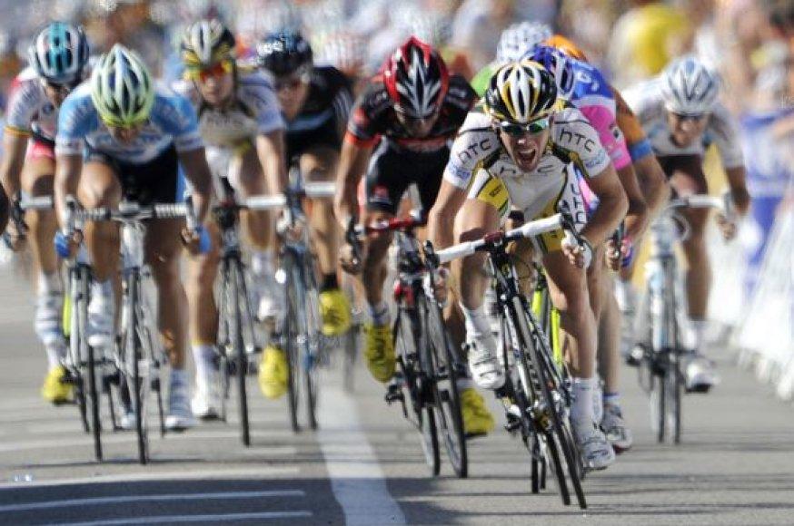 """""""Tour de France"""" vienuolikto etapo akimirka"""