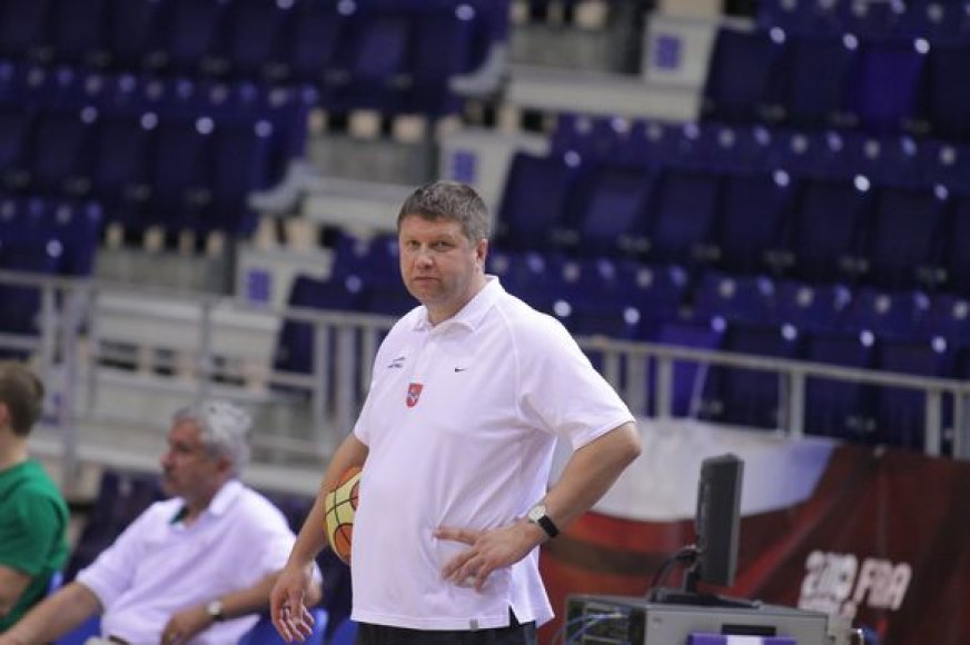 Lietuvos rinktinės trenerio asistentas Robertas Kuncaitis