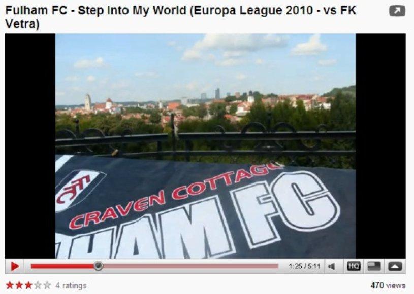 """Klubo """"Fulham"""" aistruoliai džiaugiasi neužmirštamu apsilankymu Vilniuje."""