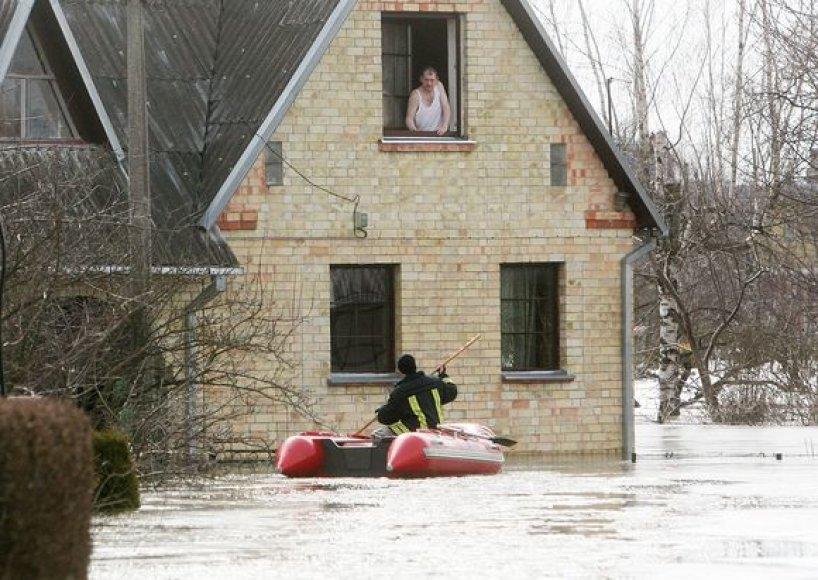 Potvynis Panevėžio krašte fotografo Andriaus Repšio akimis