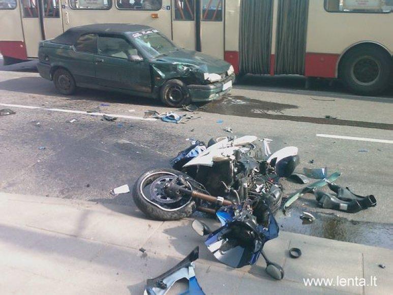 Eismo nelaimė Kauno gatvėje sostinėje