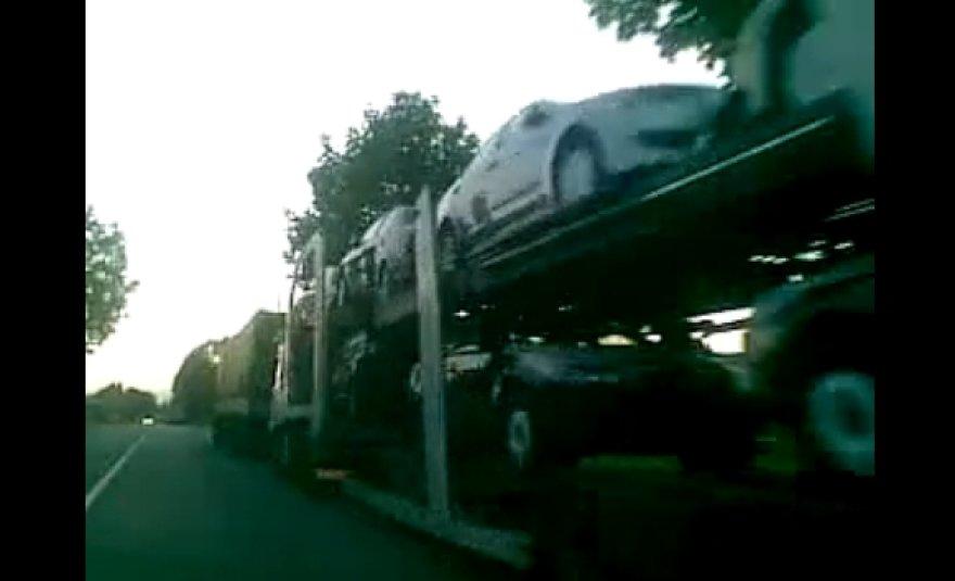 Sunkvežimių eilė pasienyje su Rusija