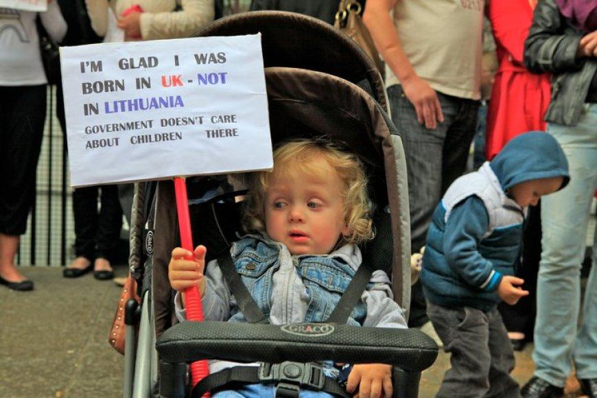 Protesto Londone akimirka