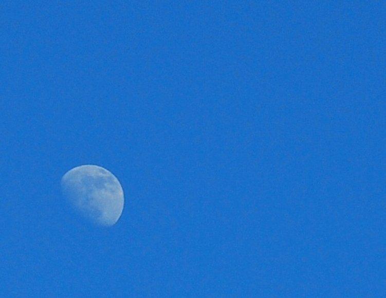 Dienos metu antradienį vilniečiai aiškiai matė Mėnulį.