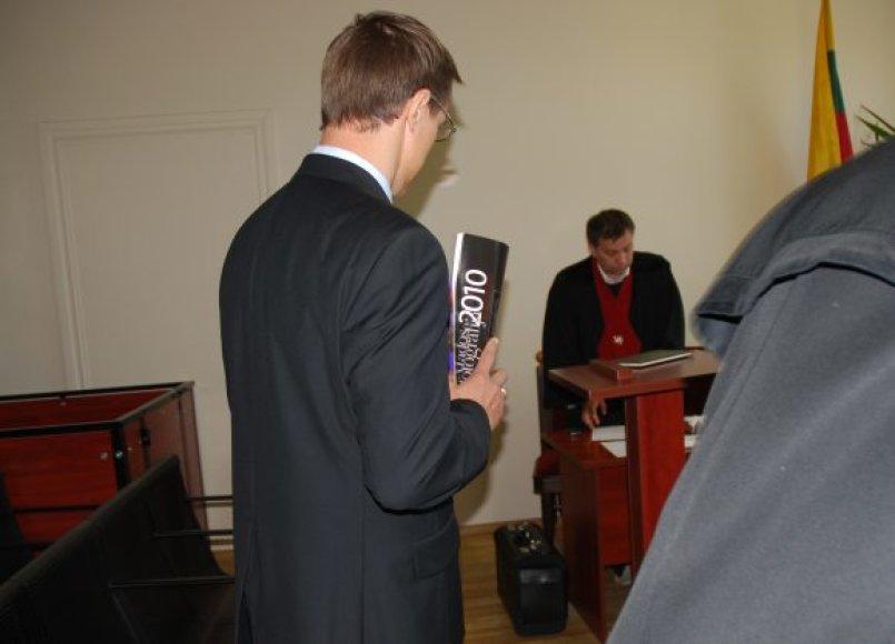 Išteisintasis R.Šimkus, kurį prokuratūra siūlo įkalinti iki gyvos galvos.