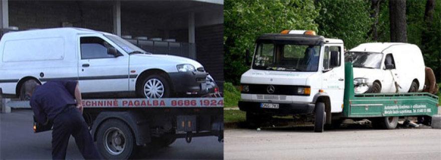 Gegužę Pilaitėje (dešinėje) ir praėjusį trečiadienį Konstitucijos prospekte aptikti fordai yra stebėtinai panašūs. Manoma, jog tai neatsitiktinumas.