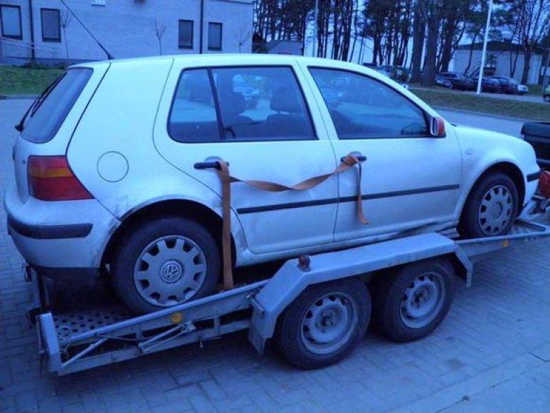 "Studentės automobilis ""Volkswagen Golf"""