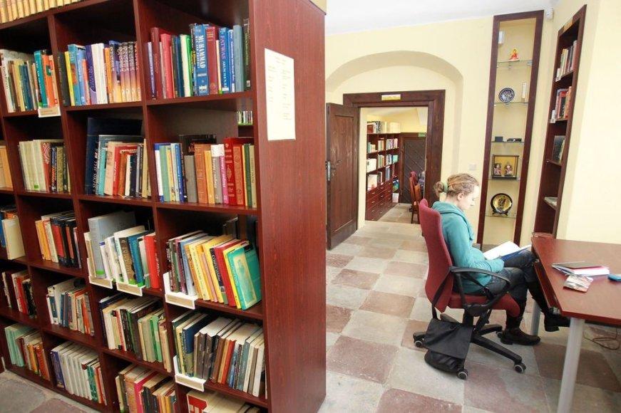 Vilniaus universiteto bibliotekoje saugomas vertingų knygų lobynas.