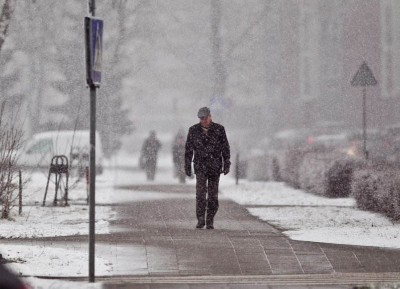 Balandžio pradžia primena tikrą žiemą.