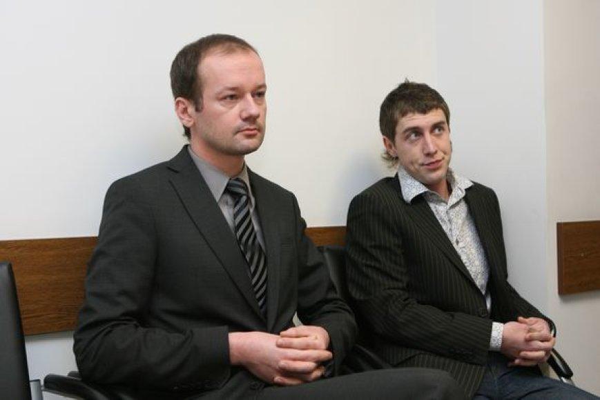Rokas Žilinskas su bičiuliu Marku Gurskiu