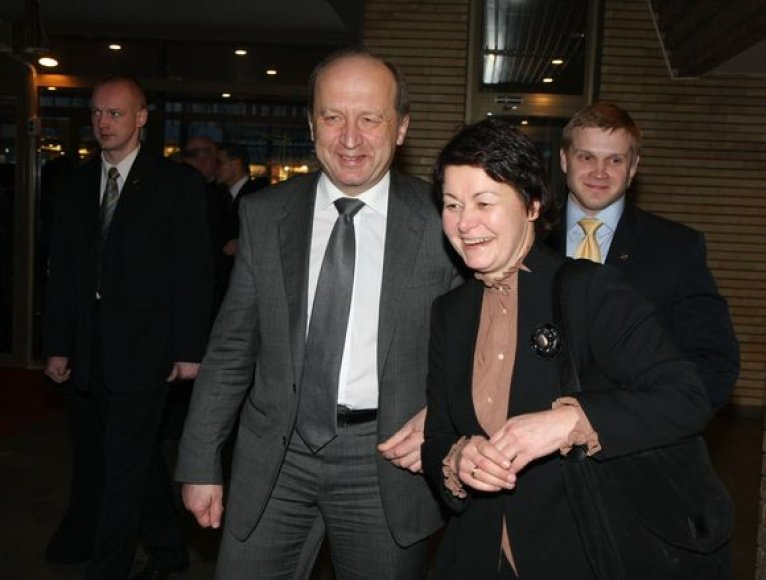 Premjeras Andrius Kubilius su žmona