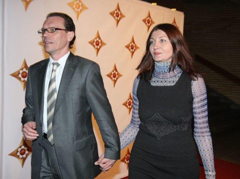 Finansų ministras Algirdas Šemeta su žmona