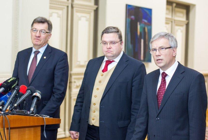 Algirdas Butkevičius, Vitas Vasiliauskas ir Rimantas Šadžius