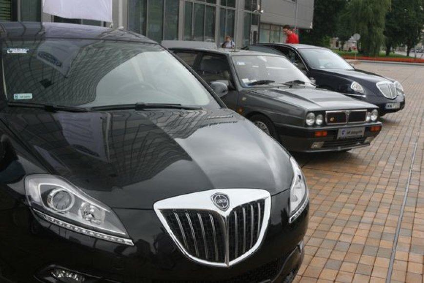 Į Lietuvą atvyko nauji Lancia Delta bei Lancia Musa modeliai bei legendinis sportinis Lancia Delta Integrale.