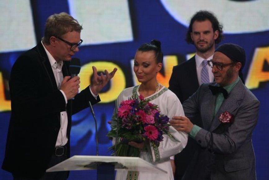 Iš kairės: Mindaugas Stasiulis, Karina Krysko, Aistis Mickevičius.