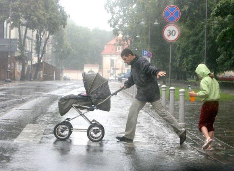Vaizdas Vilniaus gatvėse