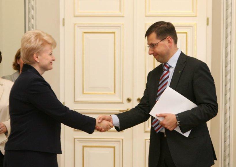 Dalia Grybauskaitė ir Gintaras Steponavičius