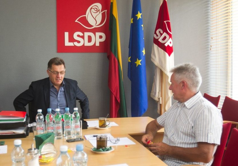 Socialdemokratų valdybos pasitarimas.