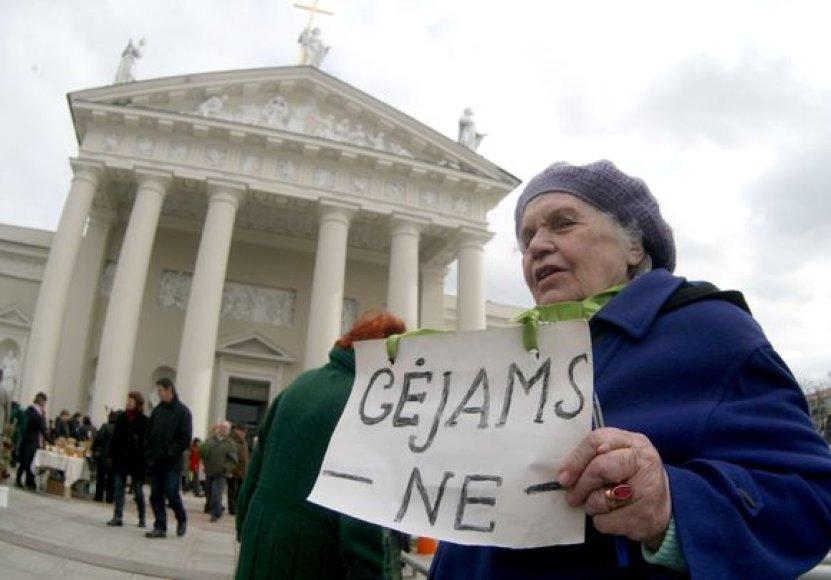 Protesto akcija Verbų sekmadienį