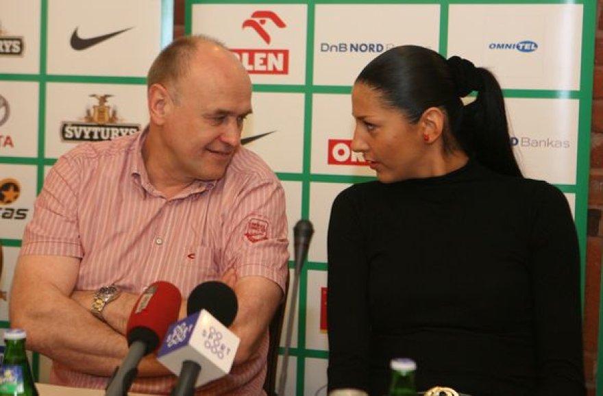 Lietuvos moterų krepšinio rinktinės spaudos konferencija