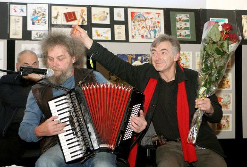 Andrius Kulikauskas ir Ilja Bereznickas