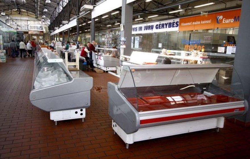 Tarptautinę darbo dieną, Halės turguje prekybininkai ir toliau prekiavo be kasos aparatų.