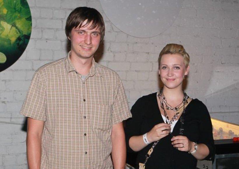 Eglė Kernagytė su vyru Vytautu Dambrausku