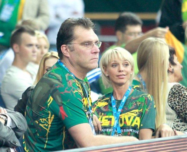 Arvydas Sabonis su žmona Ingrida