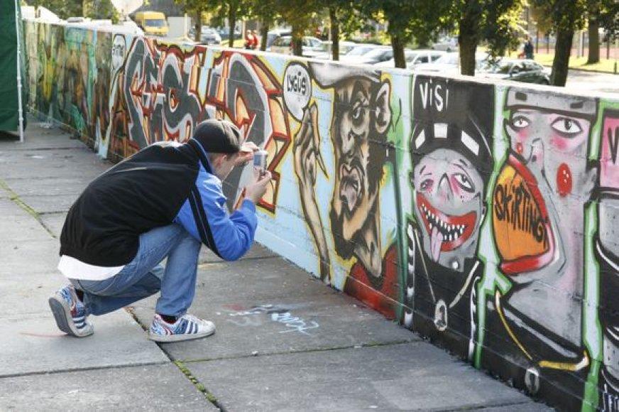 """Konkurse """"1000-mečio GRAFFITI"""" gali dalyvauti ir grafiti kūrėjų komanda, ir vienas piešėjas."""