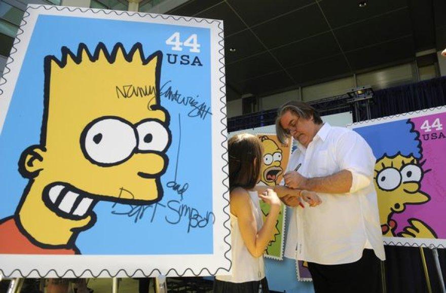 Simpsonų pašto ženklai
