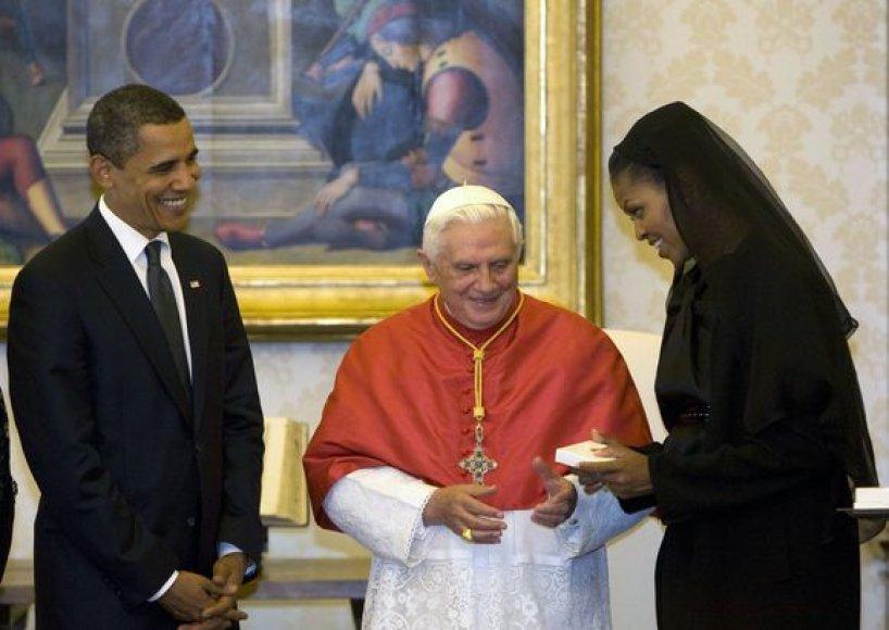 B.Obama susitiko su popiežium