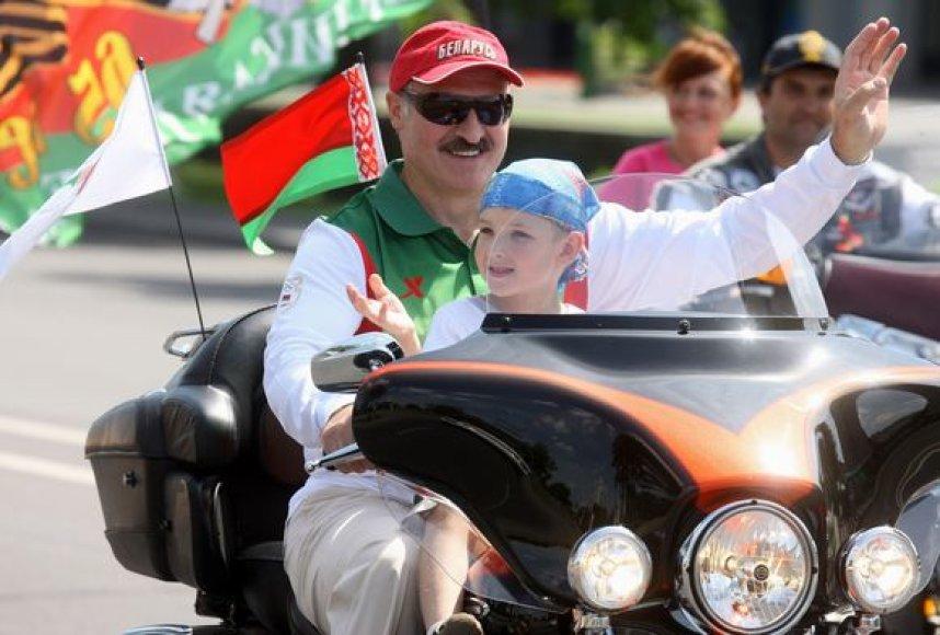 A.Lukašenka su sūnumi