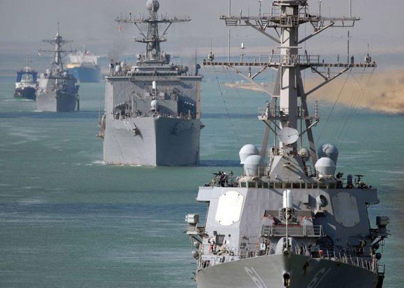 """JAV karo laivas """"USS Ramage"""""""