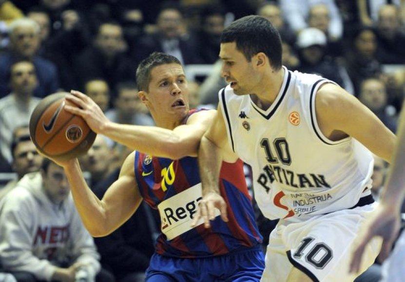 """""""Partizan"""" ir """"Barcelona"""" susitikimas"""