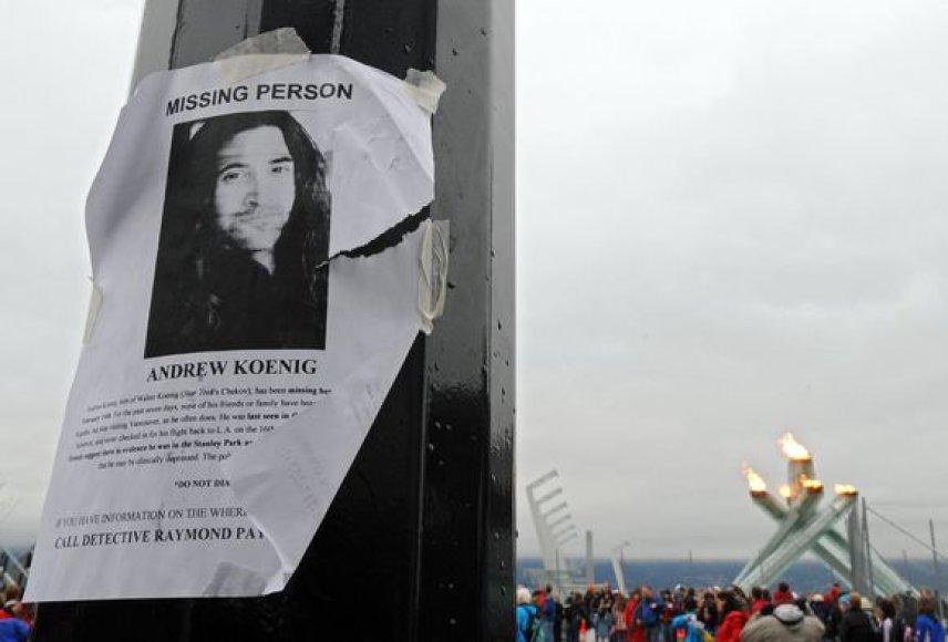 Pranešimas apie dingusį Andrew Koenig