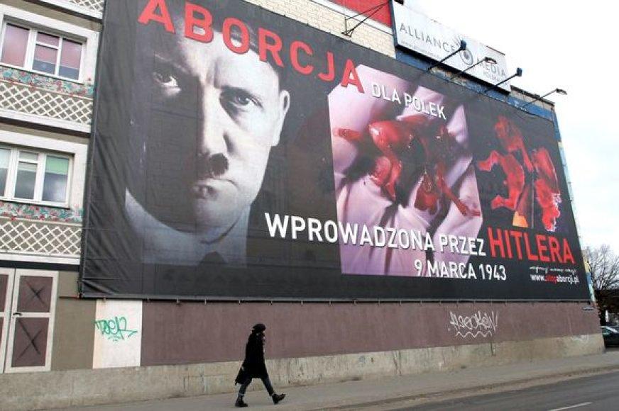 Plakatas su Hitlerio atvaizdu