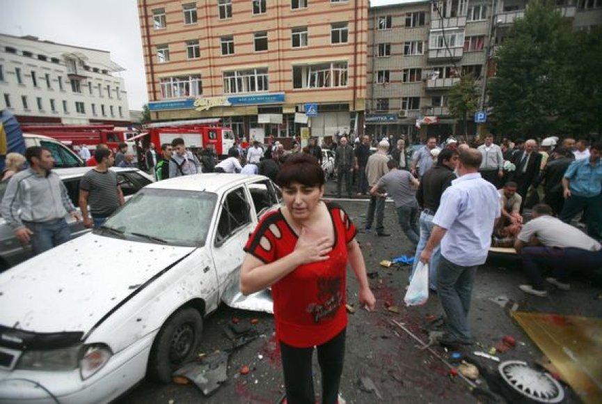 Sprogimas prie Vladikaukazo turgaus