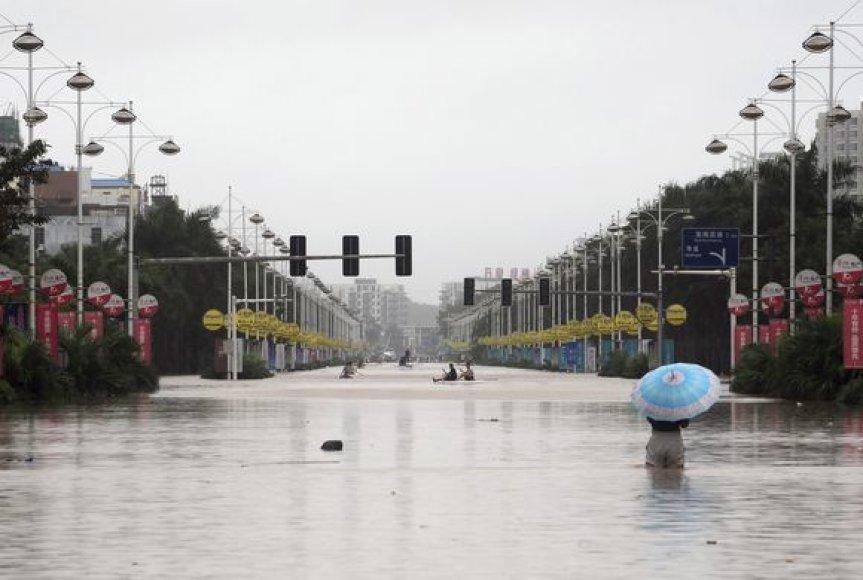 Potvynis Hainano saloje