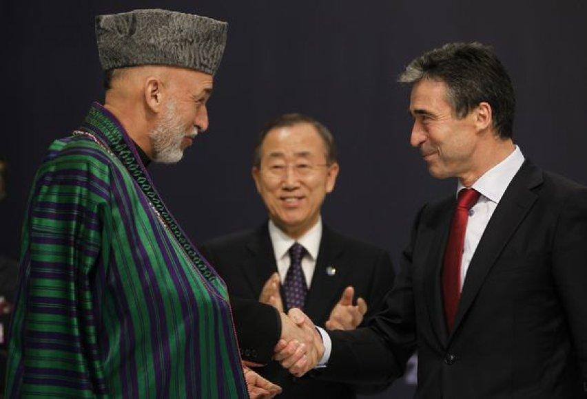H.Karzai ir A.F.Rasmussenas