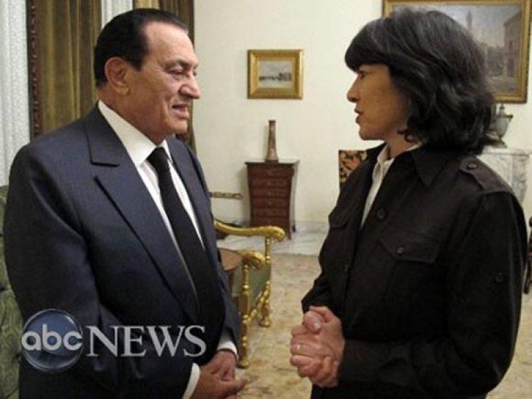 H.Mubarakas duoda interviu ABC televizijai