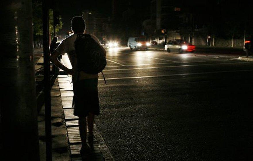 Naktis Čilėje be elektros